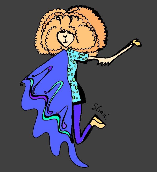 Wiem, że Björk nie jest lamą. Niech będzie to zatem moja luźna interpretacja tematu. Jak przedstawia się strój Björk na Heineken Open'er Festival 2012: mamy tu dużo gradientowych kolorów, suknię łączoną z dwóch (cekiny i chyba satyna), granatowe getry, jasne koturny i burzę rudych loczków - nie mam pojęcia czy to aby nie była peruka...